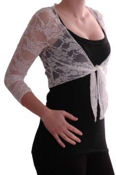 Karina Lace Tie Front Bolero Cardigan Womens Shrug Tops US 12/14 - Brought to you by Avarsha.com