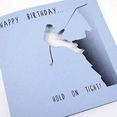 Handmade laser cut mountain climbing birthday card cards handmade laser cut rock climbing greeting card happy birthday hold on bookmarktalkfo Gallery