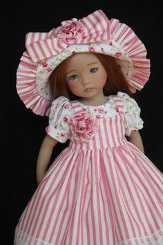 """French Rose ~ OOAK Outfit for Effner 13"""" Little Darling ~ by Glorias Garden"""