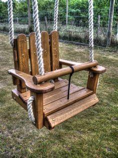 Baby swing close up (Wooden swings swing)