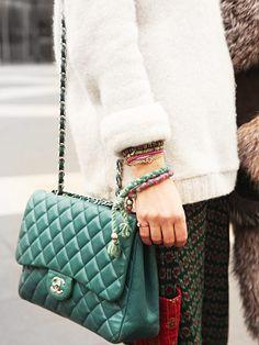 bag, bracelets