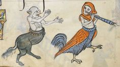 """Detail from """"The Rutland Psalter"""", medieval (c1260), British Library Add MS 62925. f 86v"""