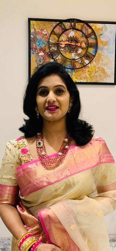 Half Saree Designs, Sari Blouse Designs, Saree Blouse Patterns, Fancy Blouse Designs, Bridal Blouse Designs, Indian Jewellery Design, Beautiful Saree, Indian Fashion, Sarees