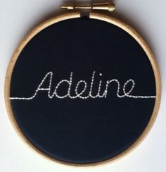 Hand Embroidered Name or Word