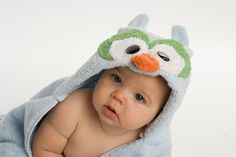 PERSONALIZED Blue Owl Hooded Towel - Last day to order for Christmas delivery within U.S. 12/10/12. $44.00, via Etsy.