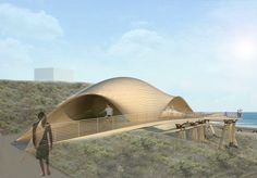 Sweeping Eco Bridge Provides Access to World-Class Surf Spot