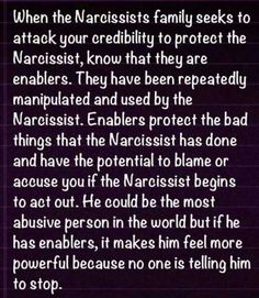 Enablers A Recovery from Narcissistic sociopath relationship abuse: if you are defending TONY right now, then YOU are an enabler and are ASSISTING him in his abuse of women. Narcissistic People, Narcissistic Behavior, Narcissistic Sociopath, Narcissistic Personality Disorder, Narcissistic Sister, Narcissistic Tendencies, Narcissistic Children, Abusive Relationship, Toxic Relationships