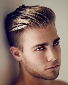Hairstyle Undercut Slick Back Handsome Hairs with Blonde Hairs Color 2015