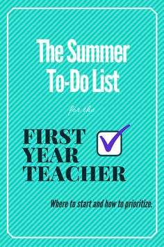 What to REALLY prioritize during the summer before your first year teaching: classroom management, organization, and setting up systems to get to know your students. Wish I had had someone tell me this advice when I was a new teacher. 1st Year Teachers, First Year Teaching, Middle School Teachers, Student Teaching, Teaching Tips, High School, Teaching Strategies, Music Teachers, Instructional Strategies