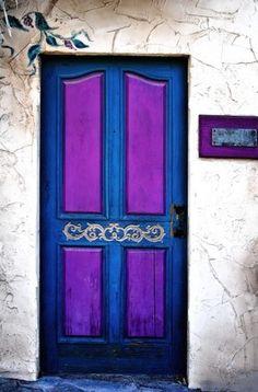 Blue and Purple Door ..rh