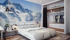 Mountains Wall Mural by PIXERS