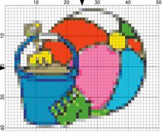 Enjoy a Day at the Beach Stitching This Needlepoint Pattern: Day 197 of the 365 Needlepoint New Year's Resolutions Challenge
