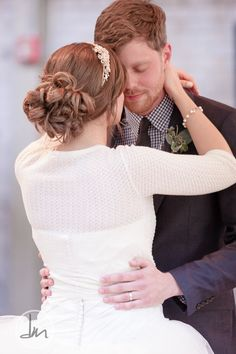 Bride - hair and sweater