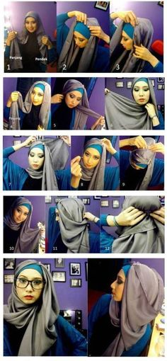 How to Wear Hijab With Glasses Picture Tutorials