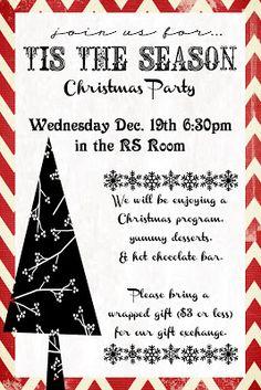 ward christmas party program