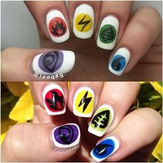 Energy symbols: | 23 Awesome Nail Art Designs Inspired By Pokémon
