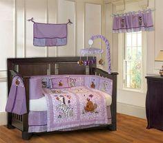 Jungle Baby Girl Crib Bedding Set Nursery Infant 10 Piece Musical Mobile Modern