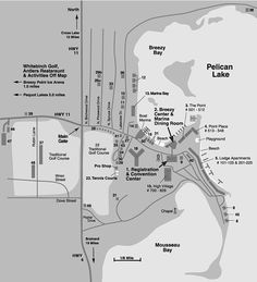 Breezy Point Resort property map listing all accommodations and facilities near Breezy Point, Minnesota. Breezy Point, Marina Bay, Minnesota, Boat, The Unit, Spaces, Activities, Adventure
