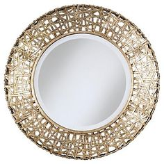Weave together your perfect decor with this gorgeous wall mirror.