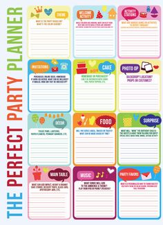 Master Party Planning Template / karaspartyideas.com