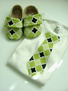 These booties are super easy to sew...as long as you have extra fabric you can dress it up with a tie :)