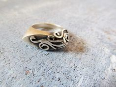 Sterling silver ring I made, with lost-wax casting technique
