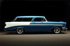 1956 Chevy Bel Air Nomad - the car which inspired James Orlando's novel 'The Jade Nomad' (albeit now a for its wicked fins! Chevrolet Nomad, Chevy Nomad, Chevrolet Bel Air, 1956 Chevy Bel Air, Station Wagon Cars, Chevy Muscle Cars, Us Cars, Limousine, Amazing Cars