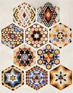 Autor:Augustus Pugin.Designs for mosaics and tessellated pavements.Pais:Islamic.