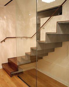 Gerade Treppe in Berlin