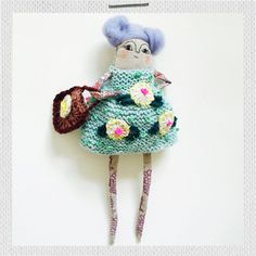 A knitting, crochet and embroidery kit for creating lovely little Lucy. She can't wait to add some sparkle to your day. Crochet Gifts, Knit Crochet, Crochet Basics, Embroidery Kits, Softies, Gifts For Kids, Sparkle, Wool, Christmas Ornaments