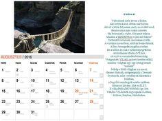 NAPtár kilencedik oldal  Saját verseimből szerkesztett NAPtár a 216-os évre sok SZERetettel. :)