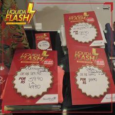 Garanta o seu look na Contraponto.  Só a promoção Liquida Flash faz isso por você!