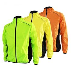 Cycling Jackets Outdoor Sport Reflective Cycle Clothing Long Sleeve Bicycle  Wind Coat Cycling Jacket Mens 3ab6e7387