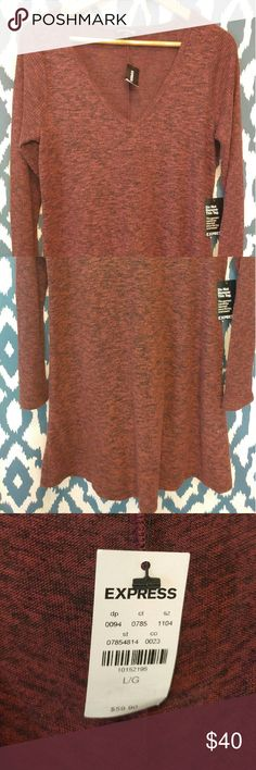 Express plush sweater dress Express super soft sweater dress. Dark red color, very cute but too big for me! Express Dresses Mini