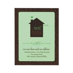 Moving Announcement | Home is Where the Heart Is from http://www.zazzle.com/moving+invitations