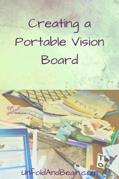 Create a Portable Vision Board - Unfold and Begin Visualisation, Study Tips, Time Management, Writing A Book, Dream Life, Law Of Attraction, Personal Development, Workplace, Online Business