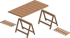 diagram for making a trestle desk