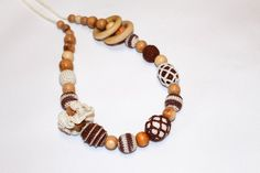 Eco Nursing Necklace for Sling with Rings  bright by EcoBabyMarket