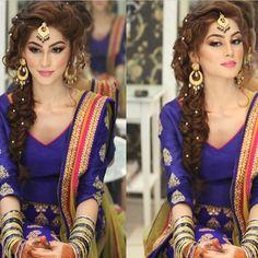 """Tag #gianasim to be featured❤️In love with this gorgeous braid by @natashasalon ❤️ ❤️ #beauty #braid #longhair #elsa #inspired #mehandi #shaadi #bridal…"""