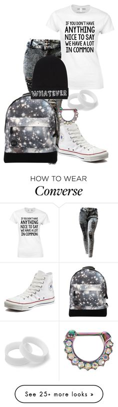 """Okay but Paige though "" by digital-minerva on Polyvore featuring Converse, Mi-Pac and Local Heroes"