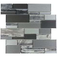 Elida Ceramica Laser Sky Linear x Glossy Glass Linear Mosaic Wall Tile at Lowe's. Stylish and sophisticated, glass tile will lend that perfect designers touch in every space. Modern glass rectangular tiles create subtle or bold beauty. Modern Mosaic Tile, Mosaic Wall Tiles, Mosaic Glass, Grey Backsplash, Kitchen Backsplash, Backsplash Ideas, Tile Ideas, Patio Grande, Shower Floor