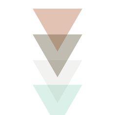Pastel Triangles Art Print