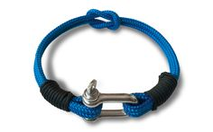 ELECTRIC+BLUE+NAUTICAL+BRACELET Nautical+style+unisex+bracelet Electric+Blue+Nautical+BraceletsProduct+Details: -Made+to+Order+(handmade) -Stainless+Steel+(inox)+D-Shackle+Captive+Pin -Sailing+Line -Ha...