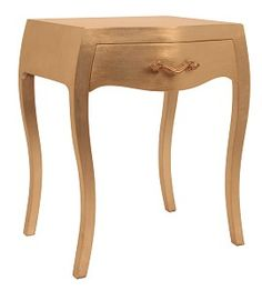 French style gold bedside table