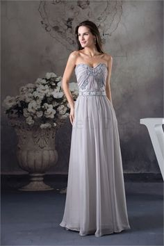 Beautiful A-Line Chiffon Silk-like Satin Sleeveless Wedding Guest