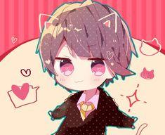 Kawaii Anime, Cute Anime Chibi, Kawaii Chibi, Cute Anime Boy, Anime Kunst, Anime Art, Anime Guys Shirtless, Chibi Boy, Evil Art