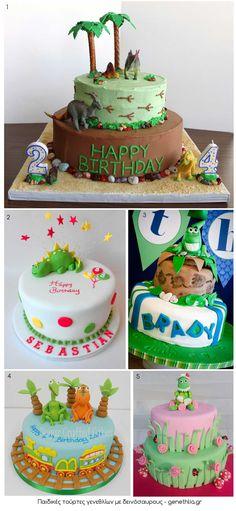 Παιδικες τουρτες γενεθλιων με δεινοσαυρους - Παιδικο παρτι - Genethlia