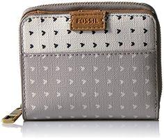 Fossil+Emma+Rfid+Mini+Multifunction-grey/white+Wallet