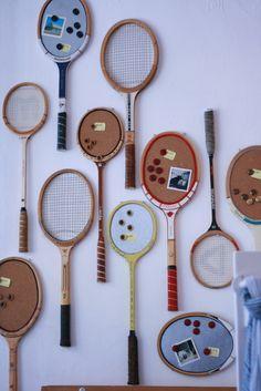 Vintage Tennis Rackets - Cork Boards & Magnet boards - @ Brick & Mortar Living