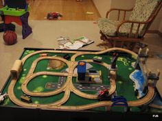 Thomas Train Set Ups For Table - A dining table set is what folks use to have a supper by using friends or their family or t & DIY Train Table | Train table Playrooms and Room